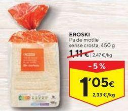 Oferta de Pan de molde eroski por 1,05€