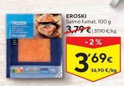 Oferta de Salmón ahumado eroski por 3,69€