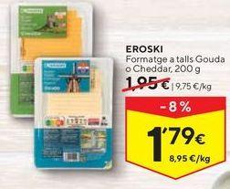 Oferta de Queso en lonchas eroski por 1,79€