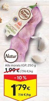 Oferta de Ajos tiernos eroski por 1,79€
