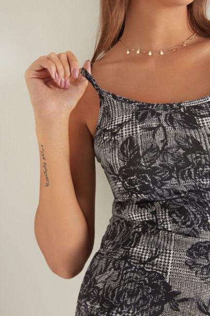 Oferta de Camiseta de Tirantes de Cuello Redondo en Algodón Elástico por 5,99€