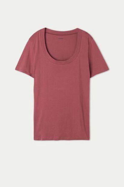 Oferta de Camiseta de Algodón con Escote Redondo por 7,99€