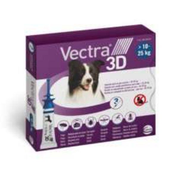 Oferta de Vectra 3D pipetas para perros 10-25 kg por 32,49€