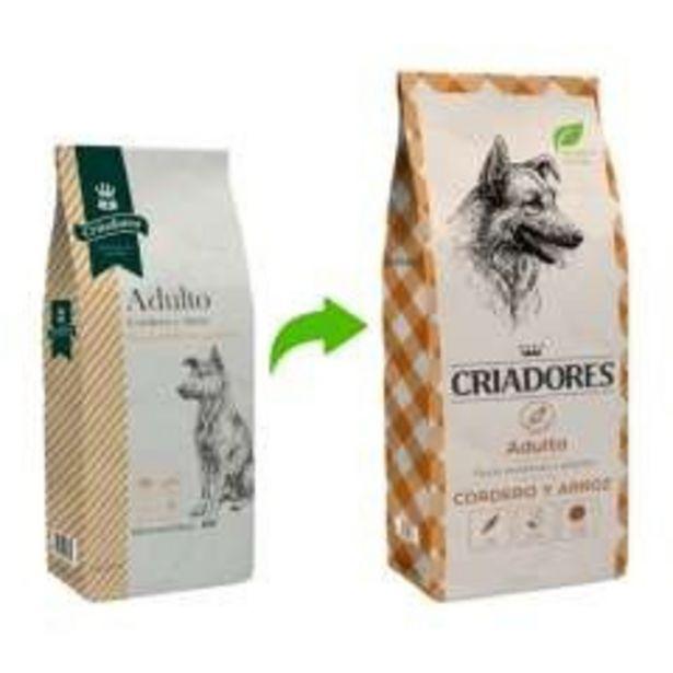 Oferta de Pienso Criadores para perros adultos Cordero y arroz por 14,99€