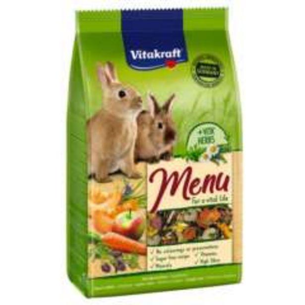 Oferta de Alimento para Conejos enanos Vitakraft Menú Vital por 7,49€