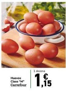 """Oferta de Huevos Clase """"M"""" Carrefour por 1,15€"""