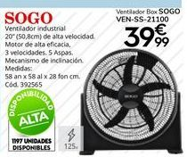 Oferta de Ventiladores Sogo por 39,99€