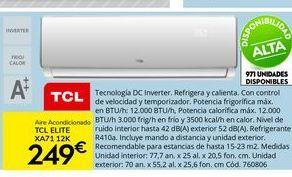 Oferta de Aire acondicionado TCL por 249€