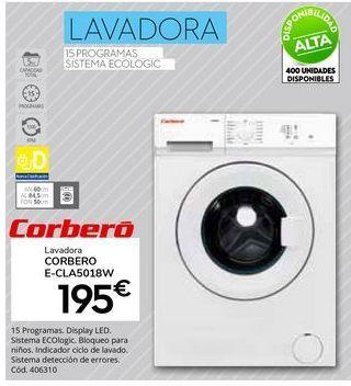 Oferta de Lavadoras Corberó por 195€