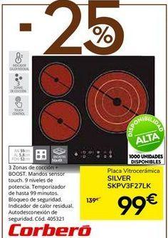 Oferta de Placa de inducción Corberó por 99€