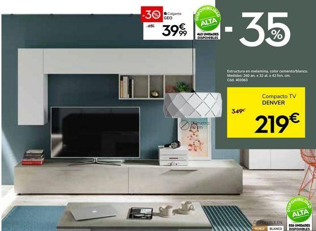 Oferta de Mueble tv por 219€