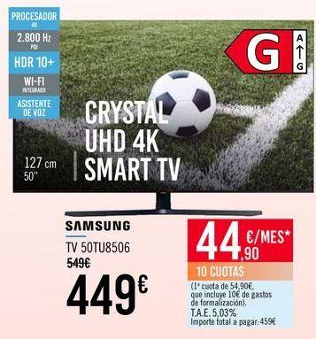Oferta de SAMSUNG TV 50TU8506 por 449€