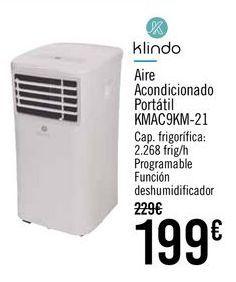Oferta de Klindo Aire Acondicionado Portátil KMAC9KM-21 por 199€