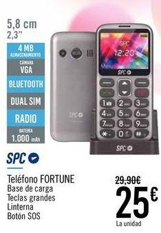 Oferta de SPC Teléfono FORTUNE  por 25€