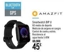 Oferta de AMAZFIT Smartwatch BIP U por 45€