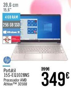 Oferta de HP Portátil 15S-EQ1028NS por 349€