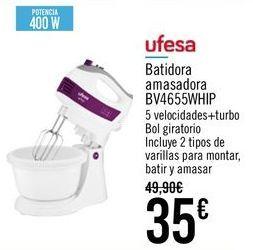 Oferta de UFESA Batidora amasadora BV4655WHIP por 35€