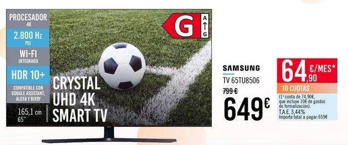 Oferta de SAMSUNG TV 65TU8506 por 649€