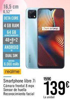 Oferta de Realme Smartphone libre 7i por 139€