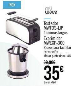 Oferta de Tostador MWTOS-LIP Exprimidor MWEXP-300 por 35€