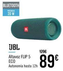 Oferta de JBL ALTAVOZ FLIP 5 ECO por 89€