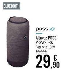 Oferta de POSS Altavoz POSS PSPW30BK por 29,9€