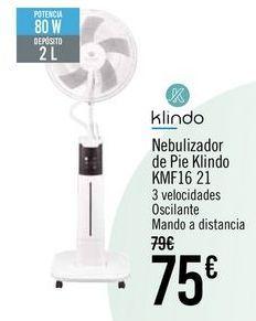 Oferta de Klindo Nebulizador de Pie Klindo KMF16-21 por 75€
