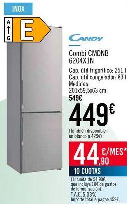 Oferta de CANDY Combi CMDNB 6204X1N por 449€