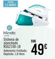 Oferta de Klindo Sistema de planchado KSG2100-18 por 49€