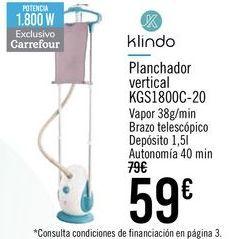 Oferta de Klindo Planchador vertical KGS1800C-20 por 59€
