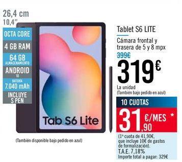 Oferta de Tablet S6 LITE por 319€