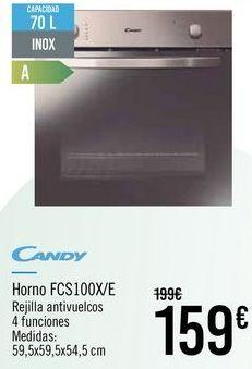 Oferta de CANDY Horno FCS100X/E por 159€