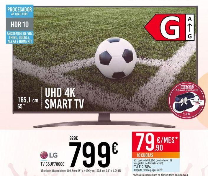 Oferta de LG TV 65UP78006 LG por 799€