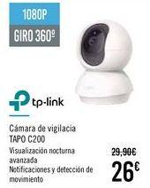 Oferta de TP-LINK Cámara de vigilancia TAPO C200 por 26€