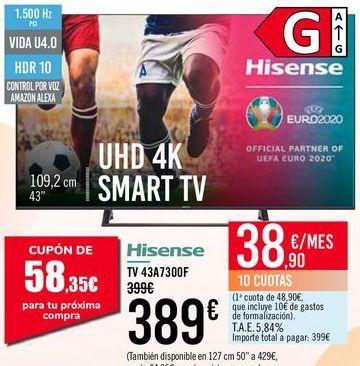Oferta de Hisense TV 43A7300F por 389€