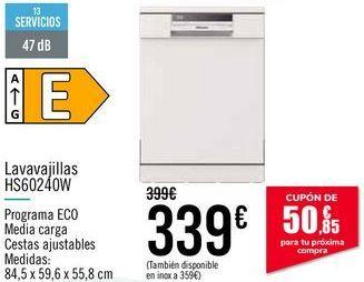 Oferta de Lavavajillas HS60240W por 339€