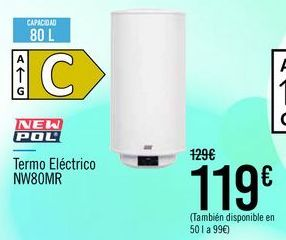 Oferta de Termo Eléctrico NW80MR por 119€