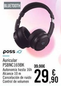 Oferta de POSS Auricular PSBNC169BK por 29,9€