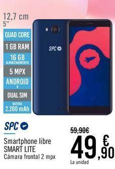 Oferta de SPC Smartphone libre SMART LITE por 49,9€