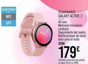 Oferta de Smartwatch GALAXY ACTIVE 2 por 179€
