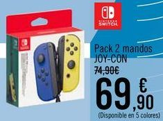 Oferta de Pack 2 mandos JOY-CON por 69,9€