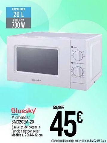 Oferta de Bluesky Microondas BMO20SM-20 por 45€