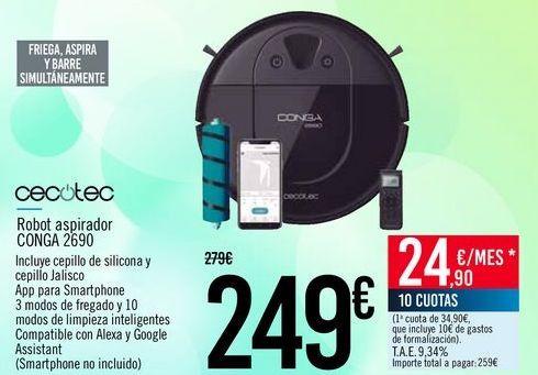 Oferta de CECOTEC Robot aspirador CONGA 2690 por 249€