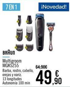 Oferta de BRAUN Multigroom MGK5255 por 49,9€