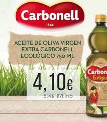Oferta de Aceite de oliva virgen extra Carbonell ecológico, 750 ml. por 4,1€