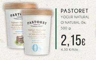 Oferta de Pastoret yogurt natural o natural o 0%, 500 g. por 2,15€