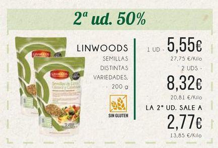 Oferta de Linwoods semillas distintas variedades, 200 g. por 5,55€