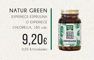 Oferta de Naturgreen Experience esprulina o experiece chlorella, 180 uds. por 9,2€