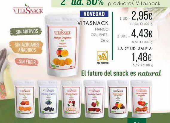 Oferta de Vitasnack. Mango crujiente, 26 g. por 2,95€
