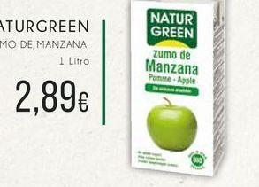 Oferta de Aturgreen zumo de manzana, 1 L por 2,89€